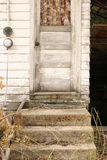 Grandmas door. The chipping back door of an old house royalty free stock photo