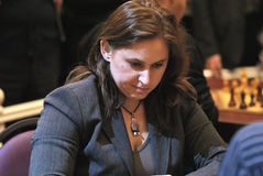 Grandmaster hongrois d'échecs, Judit Polgar Photo stock