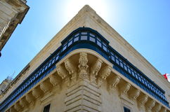 The Grandmaster Palace in Valletta - Malta. Balcony of the Grandmaster Palace in Valletta - Malta stock image