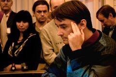Grandmaster ruso del ajedrez, Alexander Morozevich Imagenes de archivo