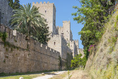 Grandmasters palace on the island of Rhodes greece Stock Image