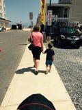Grandmom и внук Стоковое Изображение
