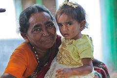 Grandmoter e granchild Fotografia de Stock Royalty Free