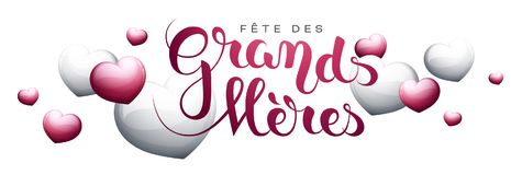 Grandmother's day in French : Fête des Grands-Mères. Grandmother's day in French : Fête des Grands-Mères. Vector illustration Stock Photos