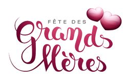 Grandmother's day in French : Fête des Grands-Mères. Grandmother's day in French : Fête des Grands-Mères. Vector illustration Royalty Free Stock Photography