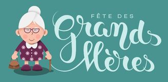 Grandmother's day in French : Fête des Grands-Mères Royalty Free Stock Photography