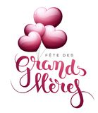 Grandmother's day in French : Fête des Grands-Mères. Grandmother's day in French : Fête des Grands-Mères. Vector illustration Royalty Free Stock Image