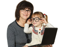 Grandmother's glasses Royalty Free Stock Photo