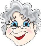 Grandmother. Isolated on white background Stock Image