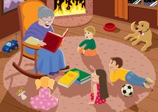 Grandmother royalty free illustration
