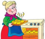 Grandmother. Clip-art / Children's book illustration for yours design, postcard, album, cover, scrapbook, etc Stock Photos