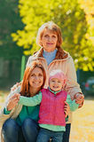 Grandmother with adult daughter and grandchild Stock Images