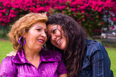 Grandmother and adult daughter ladies Royalty Free Stock Images