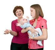 Grandmother And Mother Baby Stock Images