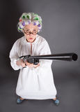 Grandmother as hunter Stock Photos