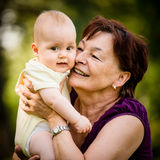 Grandmother with baby Royalty Free Stock Image