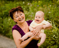 Grandmother with baby Royalty Free Stock Photo