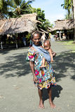 Grandmother with baby, New Guinea Stock Images