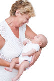 Grandmother and baby Royalty Free Stock Photo