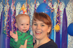 Grandmother, Baby, Party Stock Photo