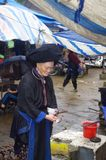 Grandmother Black Dao in market of Sin Ho Stock Images