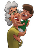 Grandmother and boy Stock Photography