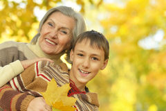 Grandmother with boy Royalty Free Stock Image