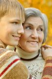 Grandmother with boy Stock Photography