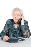 Grandmother is calling Stock Photography