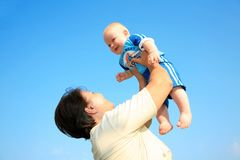 Grandmother with child Royalty Free Stock Photo