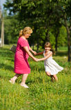 Grandmother with child Royalty Free Stock Photos