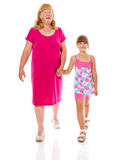 Grandmother with child Stock Photos