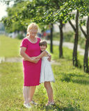 Grandmother with child Royalty Free Stock Images