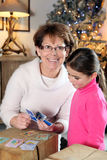 Grandmother and a child Royalty Free Stock Image