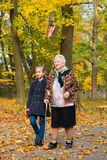 Grandmother and child Royalty Free Stock Photos