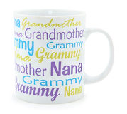 Grandmother Coffee Mug over White Stock Photography