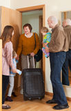 Grandmother coming to family  home Stock Photography