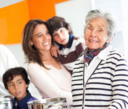 Grandmother cooking for the family Stock Photo