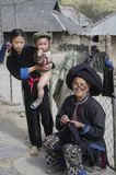Grandmother Dao Ethnic Black With Small Children Stock Photography