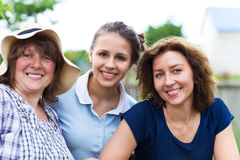 Grandmother with daughter and granddaughter Stock Image