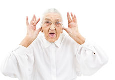 Funny grandma Stock Photo