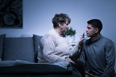 Grandmother giving advice Royalty Free Stock Image