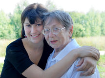 Grandmother and the grand daughter Royalty Free Stock Photography