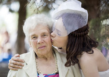 The grandmother and the grand daughter Royalty Free Stock Photography