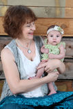 Grandmother and Grandaughter Royalty Free Stock Image