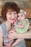 Grandmother and Grandaughter Stock Image