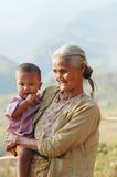 Grandmother and grandchild – Burma Stock Photos