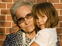 Grandmother and grandchild Royalty Free Stock Photos