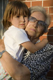 Grandmother and grandchild Stock Photo