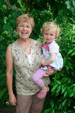 Grandmother and grandchild. Stock Images